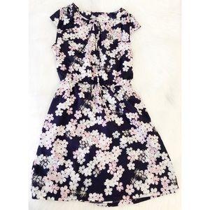 Ann Taylor LOFT Purple Floral Dress
